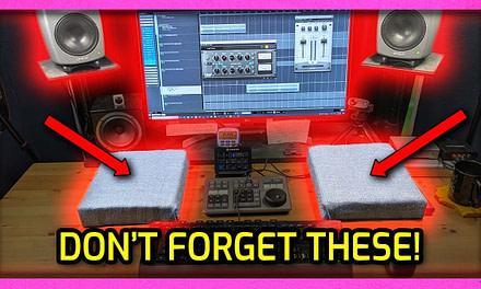 3 Ways to Fix Studio Desk Reflections In a Home Studio | Home Studio Acoustic Treatment Hack